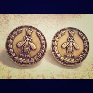 YES ITS HERE GUCCI QUEEN VTG BEE EARRINGS BUZZZZZZ